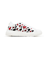 Women Heart Balloon Taylor White Nappa Leather Low Top Sneaker Lace Up S... - $32.75