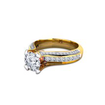 Round Cut White CZ 925 Silver 14k Yellow Gold Plated Solitaire With Acce... - $77.90