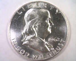 1962-D Franklin Half Choice Uncirculated Ch. Unc. Nice Original Coin Bobs Coins - $20.00