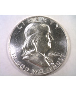 1962-D FRANKLIN HALF CHOICE UNCIRCULATED CH. UNC. NICE ORIGINAL COIN BOB... - $20.00