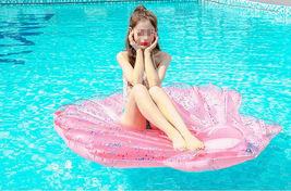 """Seashell Inflatable Pool Rafts Ride Ons Floats Swim Tube for Adults 55.1"""" (Pink) image 6"""