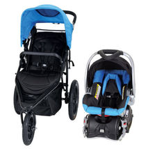 Jog Stroller Car Seat Combo Jogging Baby Jogger Travel System Safety Black Blue - $259.98