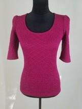 Deletta Anthropologie women S Athlone Jacquard 3/4 sleeve blouse textured - $33.73
