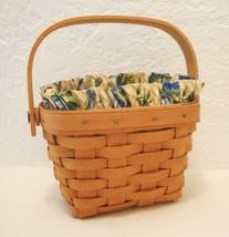 Longaberger 1997 Signed Hostess Basket Floral Plastic Protector Cancer S... - $71.53