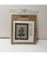 "Blue Flowers Crewel Embroidery Kit Caron 4"" x 5"" - $9.74"