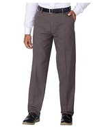 Kirkland Signature Men's Non-Iron Comfort Pant with Expander Waist (Brow... - £18.96 GBP
