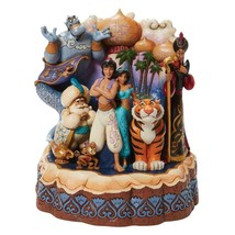 """Jim Shore Carved by Heart Aladdin by Disney Traditions 7.67"""" High"""