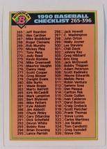 1990 TOPPS - BOWMAN - CHECKLIST 265-396 - #527 - MINT - $4.00