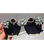 Crystal Luxury Sunglasses Women Bling Rhinestone Oversize Square Sunglas... - $24.99