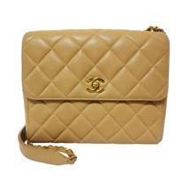 Vintage Chanel classic beige caviar leather 2.55 square shape chain shoulder bag - $2,330.00