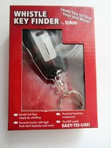 Totes Whistle Key Finder Keychain w/Built-in LED Light On/Off Switch Silver - $14.76