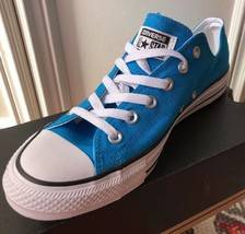 New Converse Chuck Taylor Lo All Star Vivid Blue Womens Size 10 Rare - $111.33