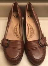 Sofft Brown Leather Flats Shoes - Womens Sz 9 Slip On  Low Heels Size 9 ... - $4.94