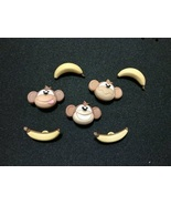 Happy Monkeys Novelty Buttons /DIY Kids Sewing supplies /Plastic Buttons - $4.25