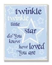 The Kids Room by Stupell Twinkle Twinkle Nursery Rhyme on Blue Rectangle... - $34.10