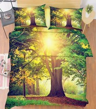 3D Tree Sunshine Bed Pillowcases Quilt Duvet Cover Set Single Queen King Size AU - $64.32+