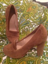 Talbots 7M Women's Suede Leather Tailored Loafers Heels Pumps Mrsp $109 Shoes - $32.66
