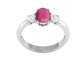 Party Wear Classic Indian Ruby Shiny Gemstone Sterling Silver Ring Sz 7 ... - $26.17