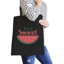 Hello Summer Watermelon Black Canvas Bags - $21.22 CAD