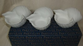 PARTYLITE Conch Shell Tealight Trio Candle Holder NEW Great Gift 3 Candle Holder - $29.69