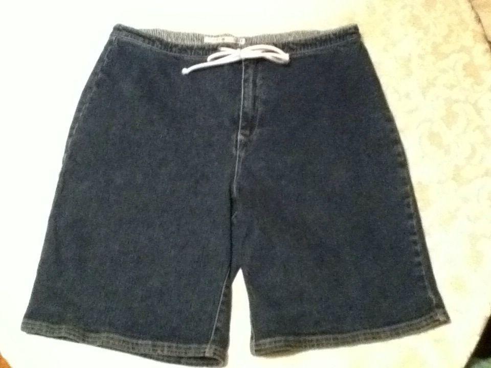 Ladie-Size 14-Tommy Hilfiger shorts-stretch denim/burmuda/blue long shorts - $16.75