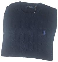 Polo Ralph Lauren Men's Pony Cable Knit Crewneck Sweater Blue M  XL - $79.95