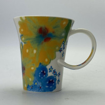 STARBUCKS 2006 Floral Watercolor Flowers Twisted Handle Coffee Cup Mug 12oz - $12.08
