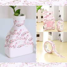 DIY Cherry Blossoms Washi Paper Tape Scrapbook Decorative Self-Adhesive ... - $1.80