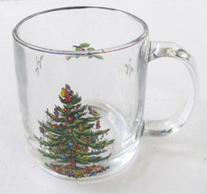 Christmas Tree Paraglazed Glass Mug by Libbey Glass - $13.99