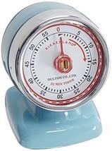 Kikkerland Vintage Streamline Kitchen Timer Blue Timers Tools Gadgets Di... - $22.86