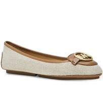 NIB MICHAEL Michael Kors Lillie Leather Round Toe Ballet Moccasin Hemp T... - $54.44