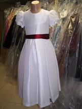 Flower Girl Dress 4011....White.....Sz 7 - $29.69