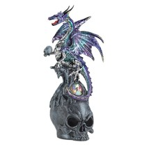 Mystical Jeweled Dragon And Skull Figurine - $19.95