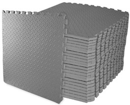 BalanceFrom Puzzle Exercise Mat with EVA Foam Interlocking Tiles Gray - $123.58