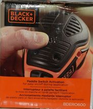 Black Decker BDERO600 5 Inch Random Orbit Sander Orange Black CORDED image 6