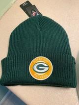 NFL 47 BRAND GREEN BAY PACKERS Ice Block Cuff Knit Hat Winter Beanie - $19.34