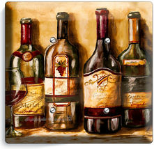 VINTAGE TUSCAN WINE BOTTLES COLLECTION LIGHT SWITCH OUTLET PLATES KITCHEN DECOR image 9