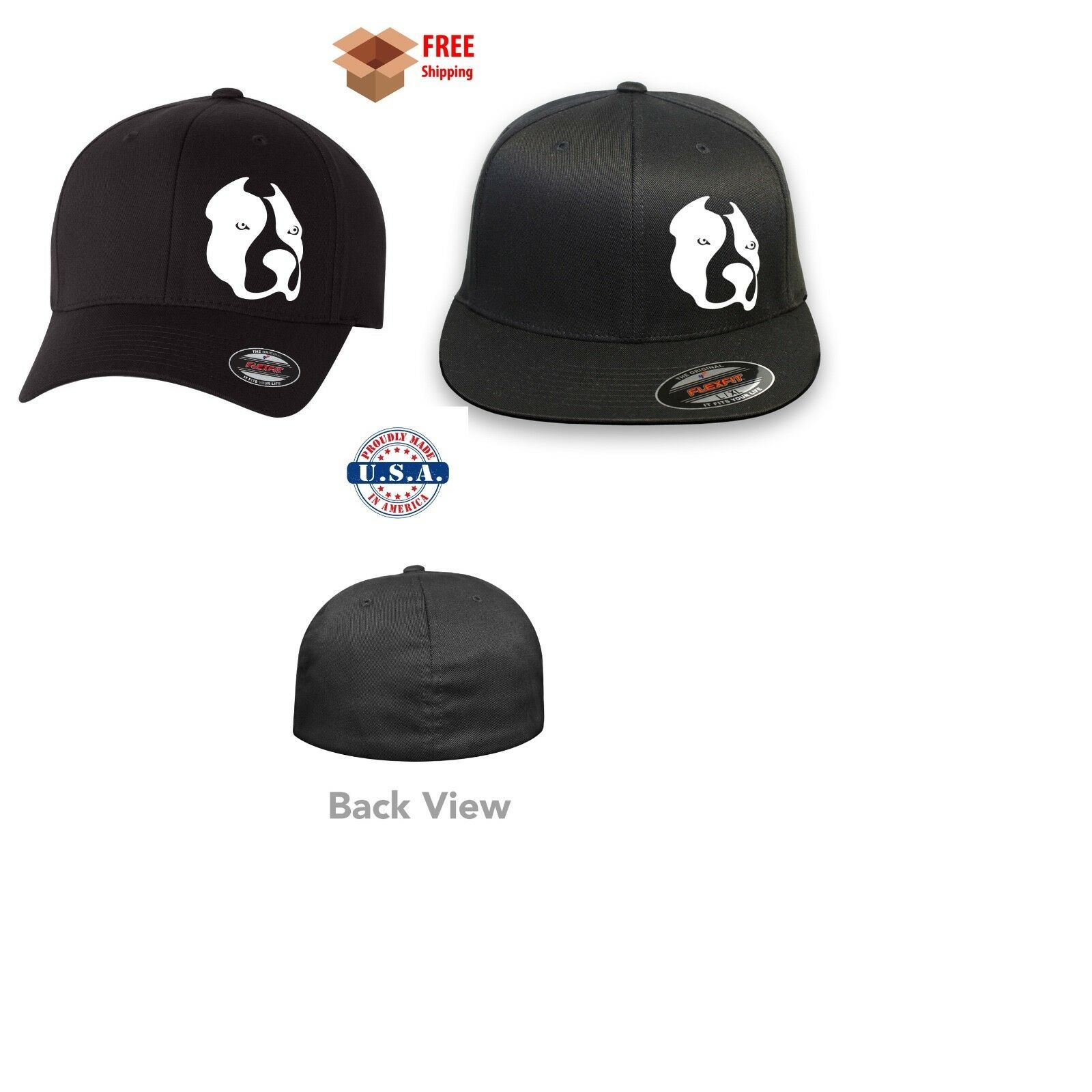 Primary image for PIT BULL DOG  FLEXFIT HAT *FREE SHIPPING in BOX*