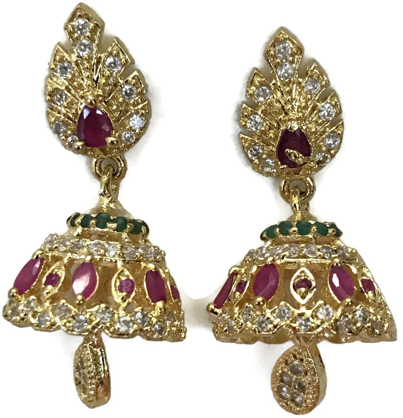 Ea  e256  Bollywood Fashion Polki Earring Set. Indian Party wear Jewelry.