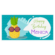 Pineapple Shades Happy Birthday Banner Personal... - $22.50