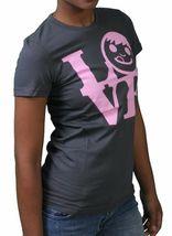 Neff Femmes Charbon Joli Filles Ventouse Visage Amour Statue T-Shirt Nwt image 3