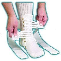 ASO Speed Lacer Ankle Brace (Medium - White) by Medspec/ASO Braces - $30.49