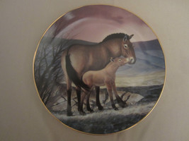 PRZEWALSKI'S HORSE collector plate WILL NELSON Endangered Species WILDLIFE - $19.99
