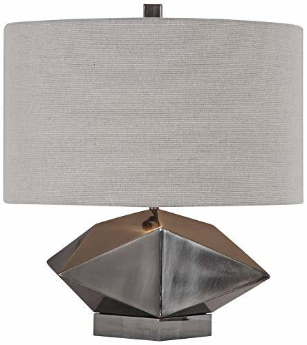 "Ignacio Antique Brushed Nickel 18"" High Accent Table Lamp"