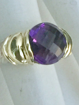 David Yurman Amethyst 14KT Sterling Ring - $350.00