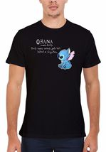 New Disney Lilo and Stitch Ohana Cool BLACK  BLACK T-SHIRT cassual street  - $9.00+