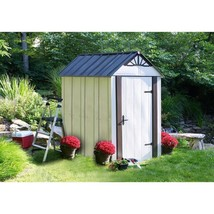 Metal Shed Storage Compact 6 x 4 Galvanized Steel Lockable Single Door O... - $544.71