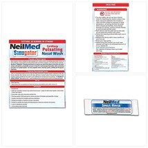 NeilMed Sinugator Cordless Pulsating Nasal Wash with 30 Premixed Packets - $38.07