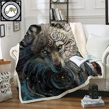 Betterhomeplus Wolf Warrior by Sunima Art Velvet Plush Throw Blanket She... - €61,49 EUR