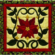 Christmas Poinsettia Quilt Magic Kit-Christmas Poinsettia - $23.73